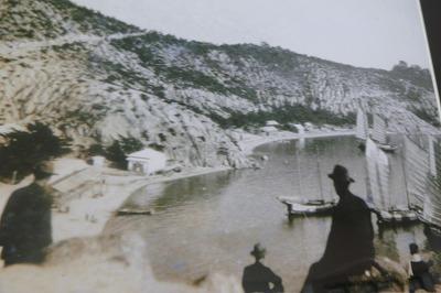 昭和9年頃の鷲羽山から大浜海岸を眺める