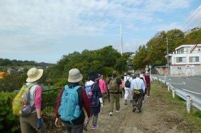 旧下津井電鉄があった遊歩道の風の道