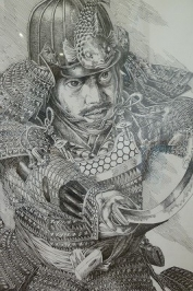 甲冑を着た武士